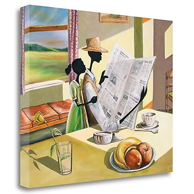 Tangletown Fine Art 'Sunday Morning' Graphic Art Print on Wrapped Canvas; 26'' H x 33'' W