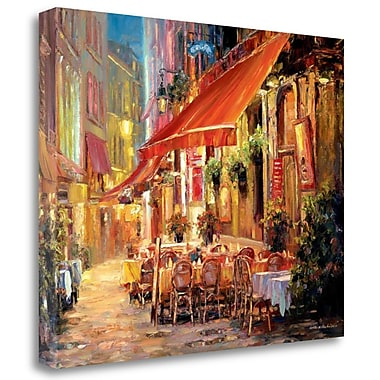 Tangletown Fine Art 'Cafe' Print on Wrapped Canvas; 31'' H x 40'' W