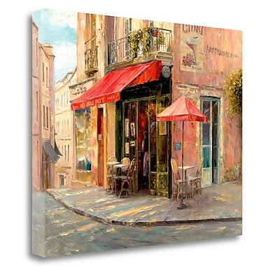 Tangletown Fine Art 'Hillside Caf ' Print on Wrapped Canvas; 31'' H x 40'' W