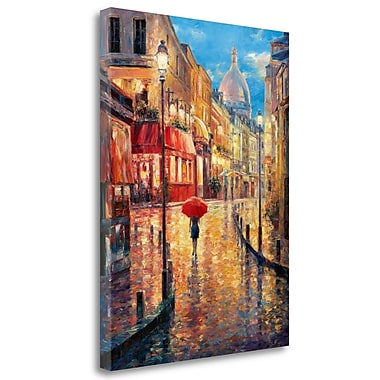 Tangletown Fine Art 'Montmartre Evening' Print on Wrapped Canvas; 32'' H x 24'' W
