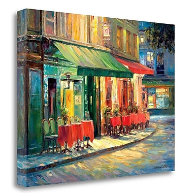 Tangletown Fine Art 'Red and Green Caf ' Print on Wrapped Canvas; 30'' H x 40'' W