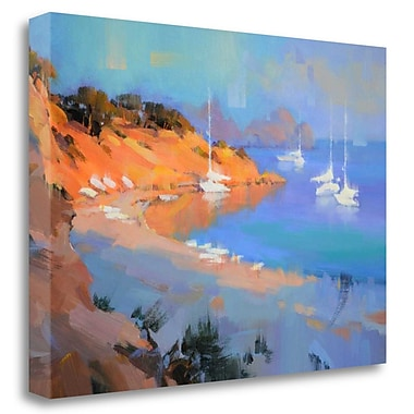 Tangletown Fine Art 'Evening Boats' Print on Wrapped Canvas; 23'' H x 32'' W