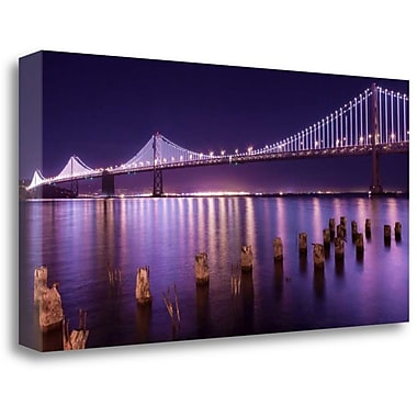 Tangletown Fine Art 'The Bay Lights' Photographic Print on Wrapped Canvas; 16'' H x 32'' W