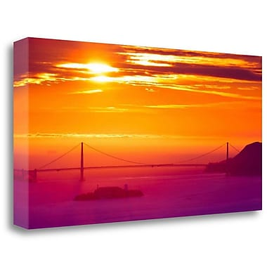 Tangletown Fine Art 'The Sun Gate' Photographic Print on Wrapped Canvas; 16'' H x 32'' W