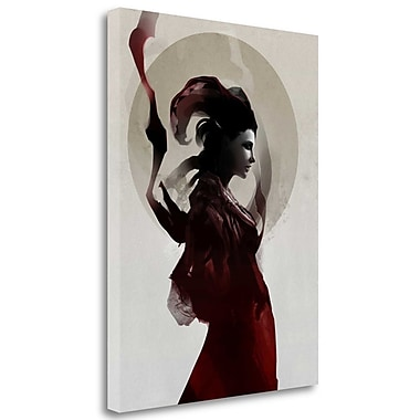 Tangletown Fine Art 'Slither' Graphic Art Print on Wrapped Canvas; 28'' H x 21'' W