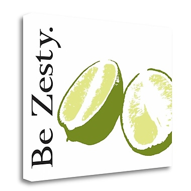Tangletown Fine Art 'Be Zesty' Graphic Art Print on Wrapped Canvas; 24'' H x 32'' W