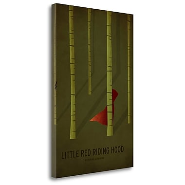 Tangletown Fine Art 'Little Red Riding Hood' Graphic Art Print on Wrapped Canvas; 29'' H x 20'' W