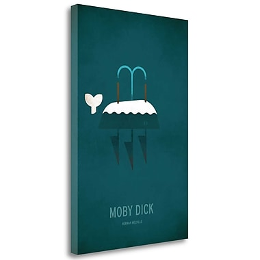 Tangletown Fine Art 'Moby Dick Minimal' Graphic Art Print on Wrapped Canvas; 48'' H x 32'' W