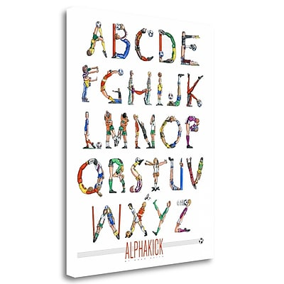 Tangletown Fine Art 'Alphakick' Textual Art on Wrapped Canvas; 32'' H x 25'' W