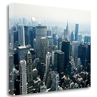 Tangletown Fine Art 'Manhattan' Photographic Print on Wrapped Canvas; 24'' H x 32'' W