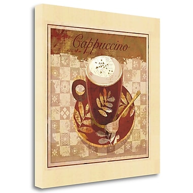 Tangletown Fine Art 'Cappuccino' Graphic Art Print on Wrapped Canvas; 24'' H x 24'' W