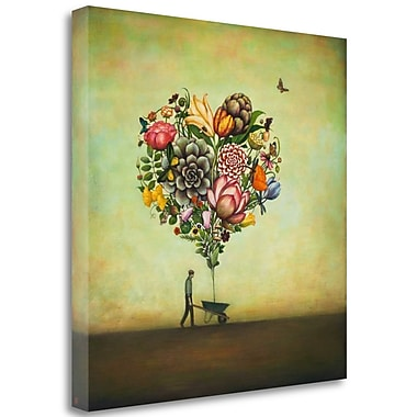 Tangletown Fine Art 'Big Heart Botany' Graphic Art Print on Wrapped Canvas; 35'' H x 35'' W