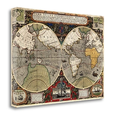 Tangletown Fine Art 'Vera Totius Expeditionis Nauticae' Graphic Art Print on Wrapped Canvas