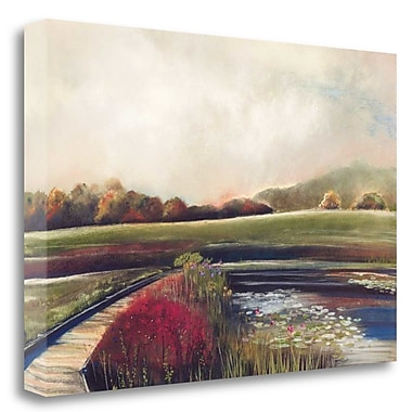 Tangletown Fine Art 'Edge of Autumn' Graphic Art Print on Wrapped Canvas; 19'' H x 28'' W
