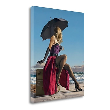 Tangletown Fine Art 'On Crescent Beach' Photographic Print on Wrapped Canvas; 40'' H x 32'' W