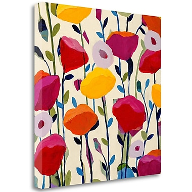 Tangletown Fine Art 'Bursting Poppies' Graphic Art Print on Wrapped Canvas; 28'' H x 28'' W