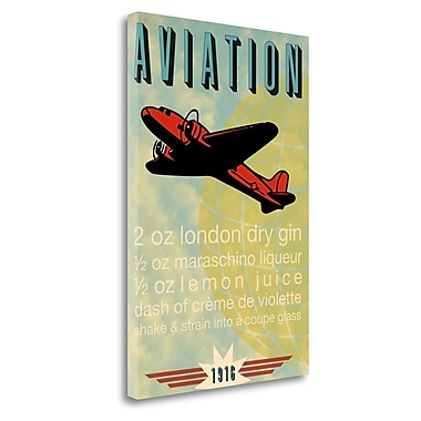 Tangletown Fine Art 'Aviation Recipe' Textual Art on Wrapped Canvas; 39'' H x 26'' W