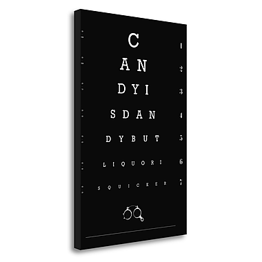 Tangletown Fine Art 'Eye Chart Candy' Textual Art on Wrapped Canvas; 34'' H x 23'' W
