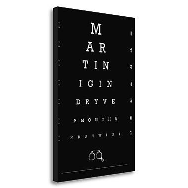 Tangletown Fine Art 'Eye Chart Martini' Textual Art on Wrapped Canvas; 48'' H x 32'' W