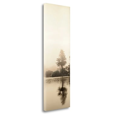 Tangletown Fine Art 'Lakeside Tree - 1' Photographic Print on Wrapped Canvas; 48'' H x 16'' W