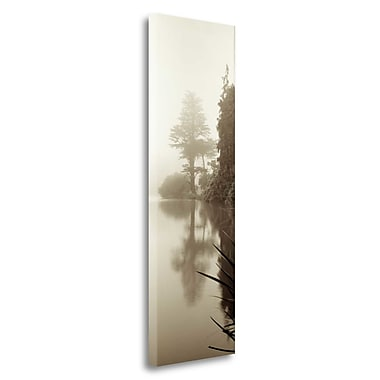 Tangletown Fine Art 'Lakeside Tree - 2' Photographic Print on Wrapped Canvas; 39'' H x 13'' W
