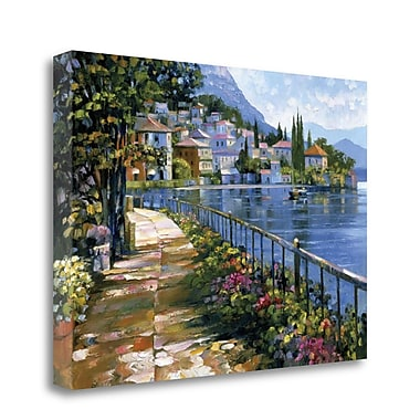 Tangletown Fine Art 'Sunlit Stroll' Graphic Art Print on Wrapped Canvas; 25'' H x 34'' W