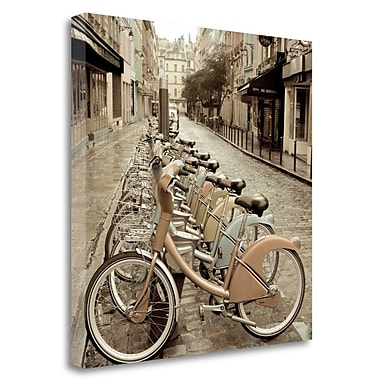 Tangletown Fine Art 'City Street Ride' Photographic Print on Wrapped Canvas; 35'' H x 35'' W