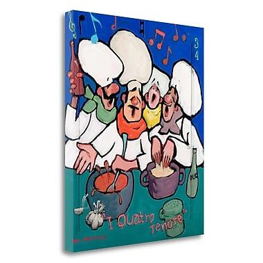 Tangletown Fine Art 'I Quatro Tenore' Graphic Art Print on Wrapped Canvas; 32'' H x 27'' W