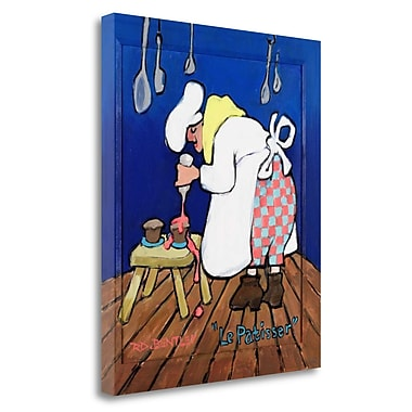 Tangletown Fine Art 'La Patisser' Print on Wrapped Canvas; 40'' H x 33'' W