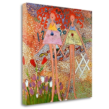 Tangletown Fine Art 'Across the Universe' Graphic Art Print on Wrapped Canvas; 35'' H x 35'' W