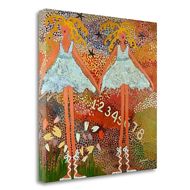 Tangletown Fine Art 'Desert Dance' Graphic Art Print on Wrapped Canvas; 35'' H x 35'' W