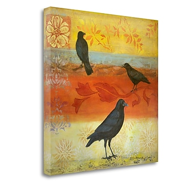 Tangletown Fine Art 'Crow Crossroads' Graphic Art Print on Wrapped Canvas; 25'' H x 25'' W
