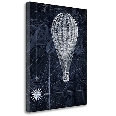 Tangletown Fine Art 'Hot Air over Paris II' Graphic Art Print on Wrapped Canvas; 40'' H x 32'' W