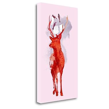 Tangletown Fine Art 'Useless Deer' Print on Wrapped Canvas; 48'' H x 27'' W