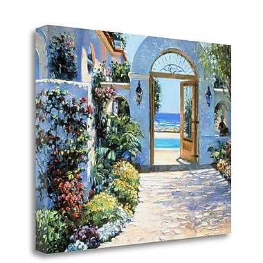 Tangletown Fine Art 'Hotel California' Graphic Art Print on Wrapped Canvas; 17'' H x 22'' W