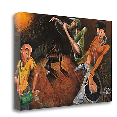 Tangletown Fine Art 'The Get Down' Graphic Art Print on Wrapped Canvas; 25'' H x 40'' W