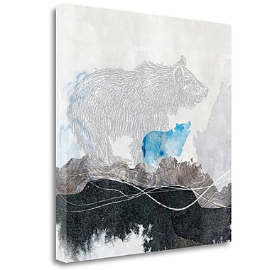 Tangletown Fine Art 'Bear 1' Print on Wrapped Canvas; 24'' H x 24'' W