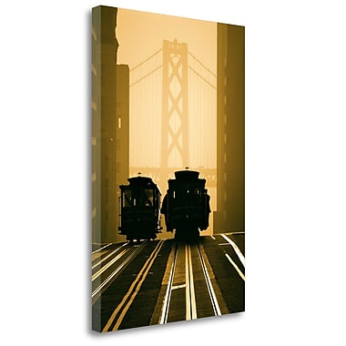 Tangletown Fine Art 'Cable Cars San Francisco' Graphic Art Print on Wrapped Canvas; 36'' H x 24'' W