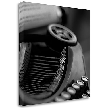 Tangletown Fine Art 'Retro-Typewriter - 3' Graphic Art Print on Wrapped Canvas; 35'' H x 35'' W