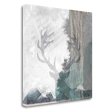 Tangletown Fine Art 'Deer and Mountains 1' Graphic Art Print on Wrapped Canvas; 24'' H x 24'' W