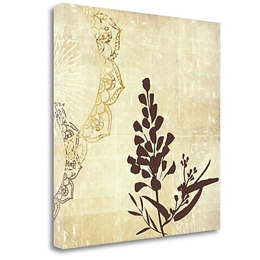 Tangletown Fine Art 'Henna Highlights 2' Graphic Art Print on Wrapped Canvas; 24'' H x 24'' W