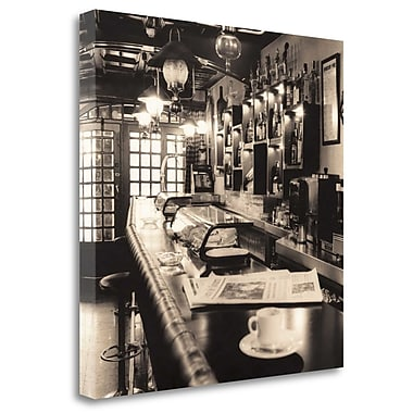 Tangletown Fine Art 'Caffe Pamplona' Photographic Print on Wrapped Canvas; 26'' H x 26'' W
