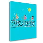 Tangletown Fine Art 'Tour de Girls' Graphic Art Print on Wrapped Canvas; 20'' H x 20'' W