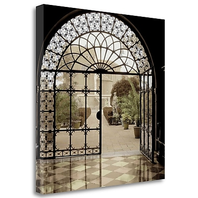 Tangletown Fine Art 'Courtyard' Photographic Print on Wrapped Canvas; 20'' H x 20'' W
