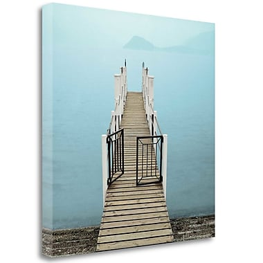 Tangletown Fine Art 'Morning Harbor Launch' Photographic Print on Wrapped Canvas; 25'' H x 25'' W