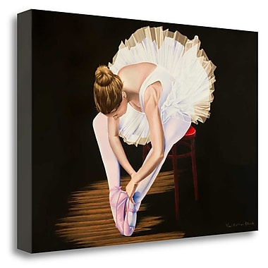 Tangletown Fine Art 'Girl on a Red Stool' Graphic Art Print on Wrapped Canvas; 32'' H x 48'' W
