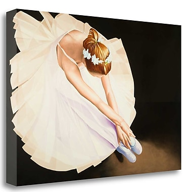 Tangletown Fine Art 'The Ballerina' Graphic Art Print on Wrapped Canvas; 32'' H x 48'' W