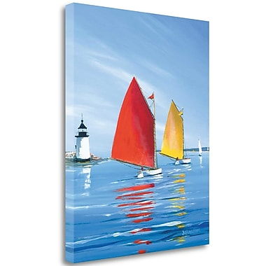 Tangletown Fine Art 'Horizon Light' Graphic Art Print on Wrapped Canvas; 32'' H x 26'' W