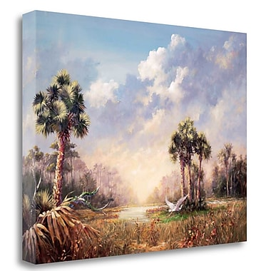 Tangletown Fine Art 'Golden Glades' Graphic Art Print on Wrapped Canvas; 30'' H x 40'' W