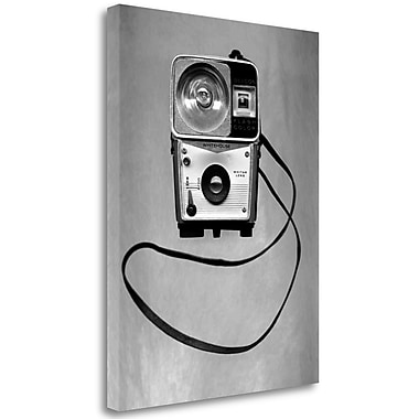 Tangletown Fine Art 'Retro Point and Shoot - 2' Graphic Art Print on Wrapped Canvas; 38'' H x 28'' W